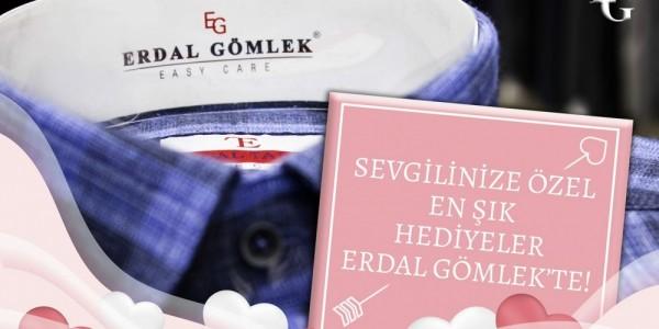 Sevgililer gününde şık hediyeler Erdal Gömlek'te
